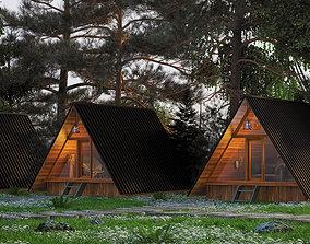 Forest House CG cg 3D model