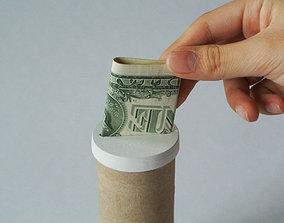 Paper tube piggy bank 3D printable model