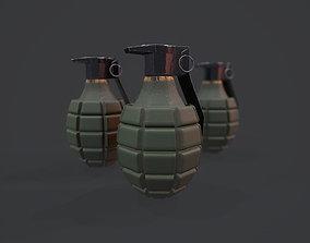 MK2 Grenade - Models and Textures 3D asset