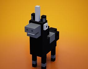Voxel - Black Unicorn 3D model