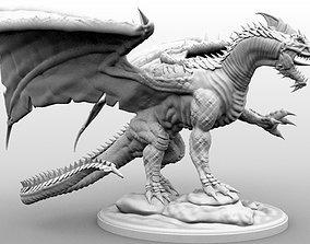 White Dragon - Gargantuan Miniature - High 3D print model
