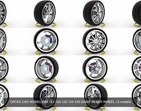 3D model ORTAS CAR WHEEL RIM 131-132-133-134-135 GAME 1