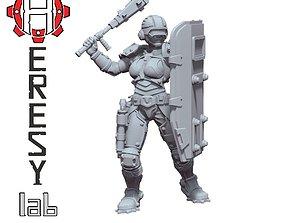 Heresylab - Sauberung female Enforcer 3D print model