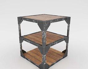 Rust Steel Table 3D table