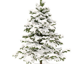 3D model Pine Tree with Snow 2point3m