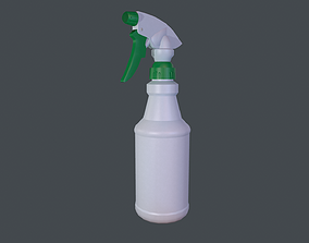 3D asset low-poly Spray bottle