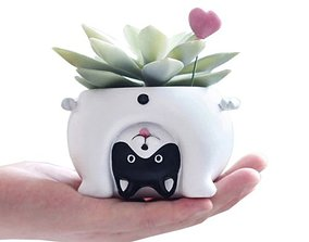 premiun Cat planter - STL for 3D Printing