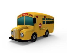 Cartoon Bus 3D model low-poly