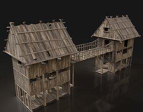 Next Gen AAA Wooden Watchtower Bridge Gate - 3D model 1