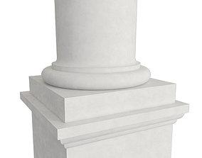 colum 3D model Tuscan Column