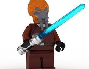 LEGO Minfigure Plo Koon 3D