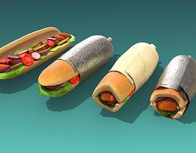 Sandwich 3D asset