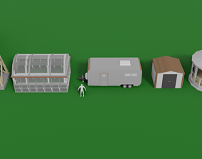 Residential Side Structures 3D model