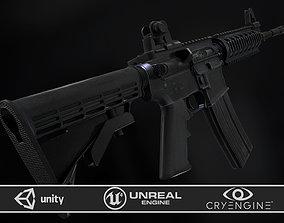 M4A1 RIS High detail 3D asset