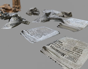 Paper Trash PBR Game Ready 3D asset