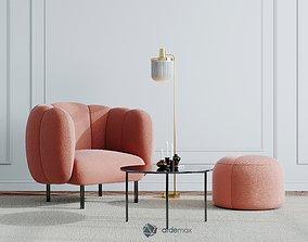 armchair Furniture set 3D model