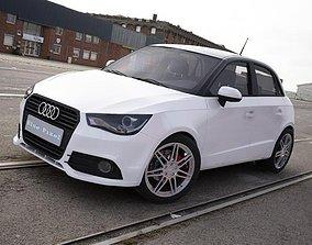 3D Audi A1 Sportback white