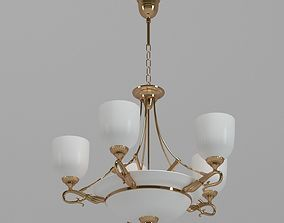 White And Gold Sconce Lamp 3D model