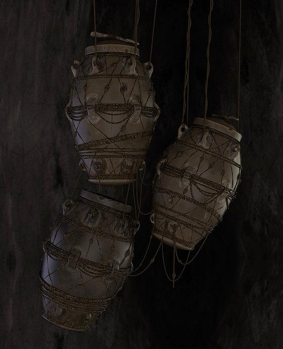 hanging medieval drums