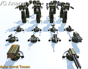3D model Modular Turret Tower - HQ