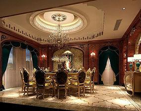 3D model Business Restaurant - Coffee - Banquet 50