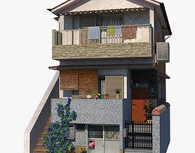 Blue House 3D model realtime