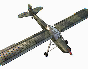 3D asset German liaison aircraft Fieseler Fi 156 Storch