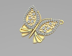 other sintered butterfly pendant 3D printable model