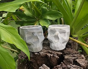 3D print model SKULL CONCRETE POT MOLD