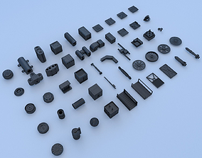 Technical parts collection 3 3D model