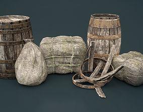 Bags and Barrels 3D model
