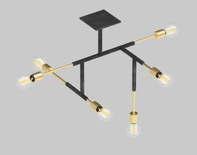 Neptune Glassworks - Circuit Chandelier 3D model