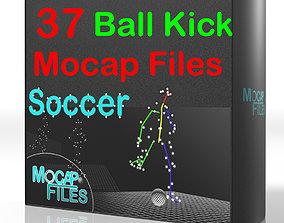 4-Soccer football motion capture animation -Ball 3D model