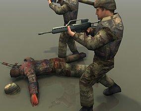 German Army Infantry 3D asset