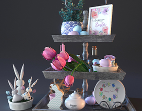 3D vase happy ester decorative set