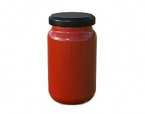 3D model Sauce Jar 04