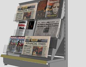 Shelving system newspapers shelf 3D model