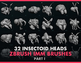 3D Alien Insectoid Heads - 32 IMM Brush - Part I