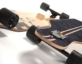 3D realistic longboard