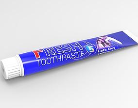 3d plastic toothpaste tube