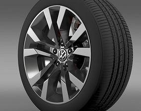 VW Beetle TDI 2012 wheel 3D
