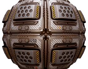 3D model PBR Seamless Sci-Fi Texture 36