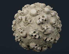 Skulls Bones Seamless PBR Texture 15 3D model