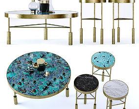 Kelly Wearstler Sedona Tables 3D