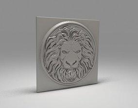 Lion basrelief 3D model design