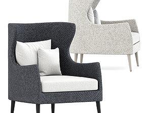 Katachi High Lounge Chair by Janus et cie 3D model