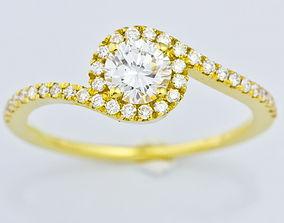 Judith engagement ring 3D printable model