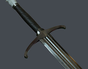Longsword - lowpoly 3d model - PBR low-poly