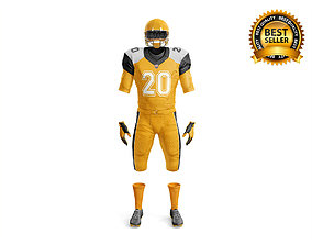 3D American Football Uniform