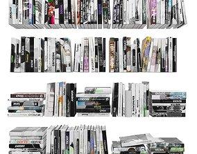 Books 150 pieces 4-6-1 3D asset